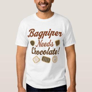 Bagpiper Chocolate Tshirts