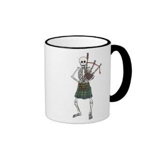 Bagpiper Skeleton Ringer Mug