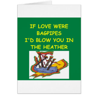 BAGPIPES lover Card