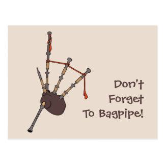 Bagpipes Postcard