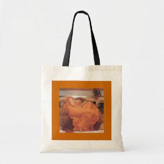 Bags-Classic Art-Leighton-Flaming June Tote Bag