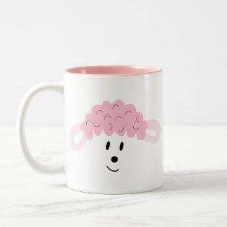 BAH! BAH! Lamb Face Two-Tone Coffee Mug