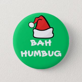 Bah Humbug and Santa Hat Grumpy Christmas Holiday 6 Cm Round Badge