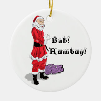 Bah Humbug Christmas 2011 Round Ceramic Decoration