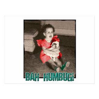Bah Humbug Christmas Postcard