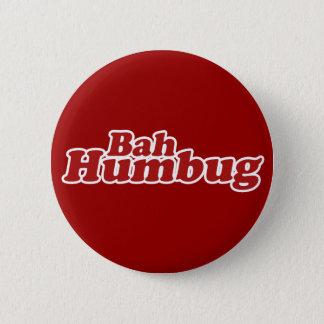 Bah Humbug Christmas Scrooge 6 Cm Round Badge