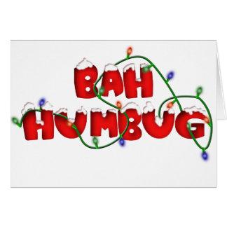 bah humbug!!!! greeting card