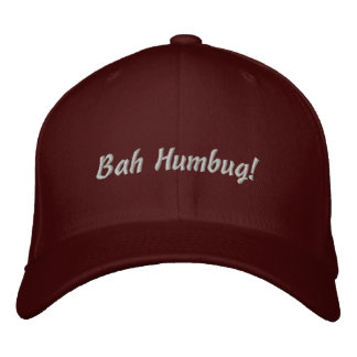 Bah Humbug! hat Embroidered Cap