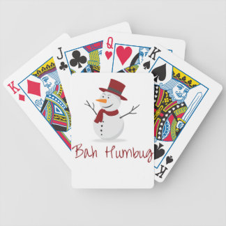 Bah Humbug -  Mischievous Snowman  - Christmas Bicycle Playing Cards