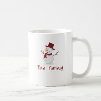 Bah Humbug -  Mischievous Snowman  - Christmas Coffee Mug
