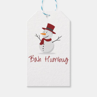 Bah Humbug -  Mischievous Snowman  - Christmas Gift Tags