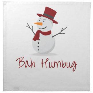 Bah Humbug -  Mischievous Snowman  - Christmas Napkin