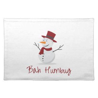 Bah Humbug -  Mischievous Snowman  - Christmas Placemat