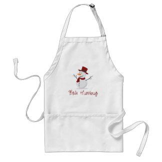 Bah Humbug -  Mischievous Snowman  - Christmas Standard Apron