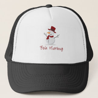 Bah Humbug -  Mischievous Snowman  - Christmas Trucker Hat