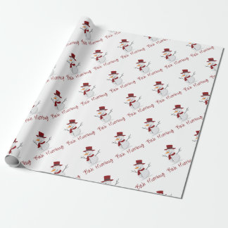 Bah Humbug -  Mischievous Snowman  - Christmas Wrapping Paper