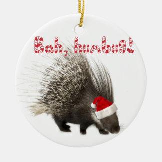 Bah, humbug! Porcupine ornament