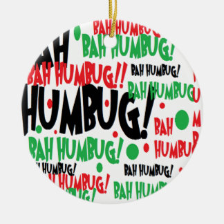 Bah Humbug Round Ceramic Decoration