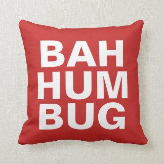 BAH HUMBUG - white on red Cushion