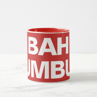 BAH HUMBUG - white on red Mug