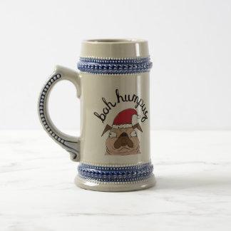 Bah Humpug Christmas Santa Pug Beer Stein