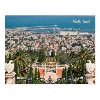 Bahá'í Gardens of Haifa, Israel Postcard
