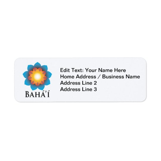 Bahá'í Return Address Label