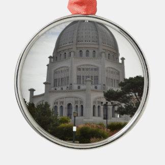 Bahai Temple in Wilmette,IL Round Metal Christmas Ornament