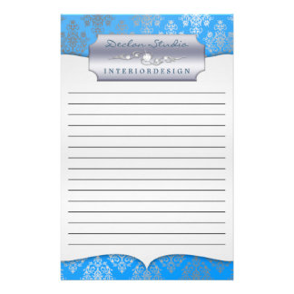 Bahama Dashing Damask Lined Business Stationary Stationery