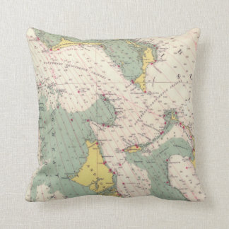 Bahama Islands nautical chart map Cushion
