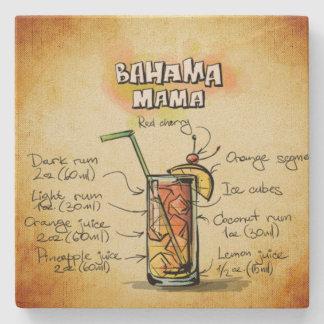 Bahama Mama Bartender Drink Recipe Stone Coaster