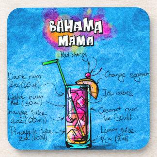 Bahama Mama Cocktail Recipe Plastic Coaster