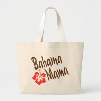 Bahama Mama design with Hibisucus flower Large Tote Bag