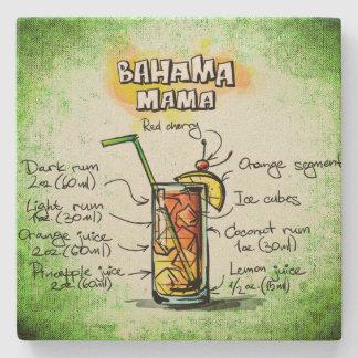Bahama Mama Drink Recipe Stone Coaster