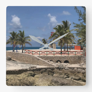 Bahama Mama Square Wall Clock