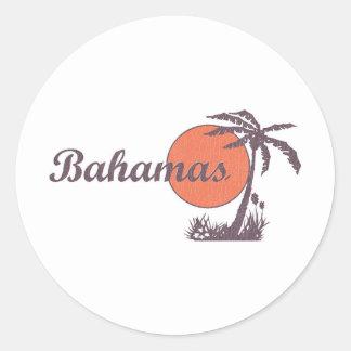 Bahama Worn Retro Round Sticker