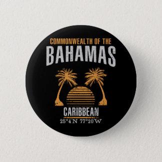 Bahamas 6 Cm Round Badge
