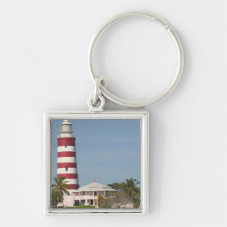 BAHAMAS, Abacos, Loyalist Cays, Elbow Cay, Hope Silver-Colored Square Key Ring
