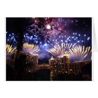 Bahamas Atlantis Card Fireworks