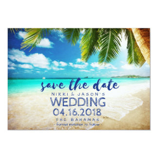 Bahamas Beach Destination Wedding Save the Dates 13 Cm X 18 Cm Invitation Card