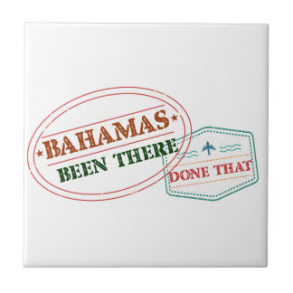 Bahamas Been There Done That Small Square Tile
