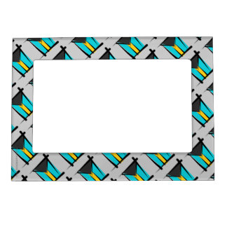 Bahamas Brush Flag Magnetic Picture Frame