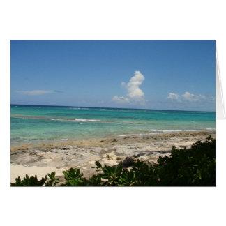 Bahamas Cay note card, blank Card