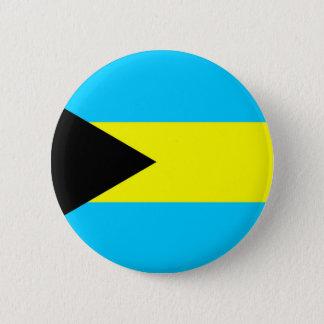 Bahamas country flag symbol long 6 cm round badge