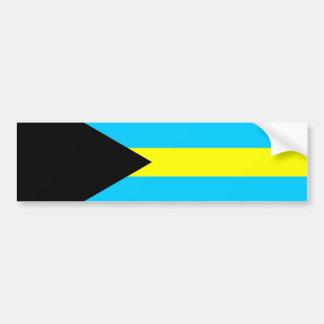 Bahamas country flag symbol long bumper sticker