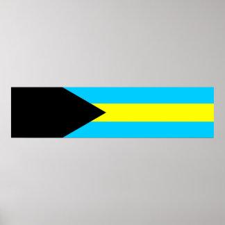 Bahamas country flag symbol long poster