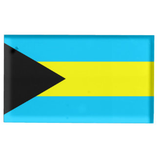 Bahamas country flag symbol long table number holder