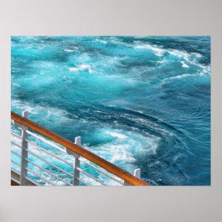 Bahamas Cruise - Turquoise Wake Print