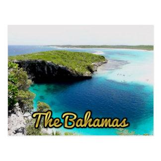 Bahamas Dean's Blue Hole Postcard