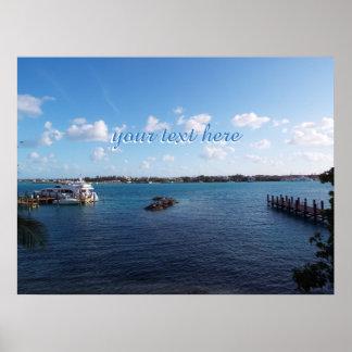 Bahamas Dock Poster